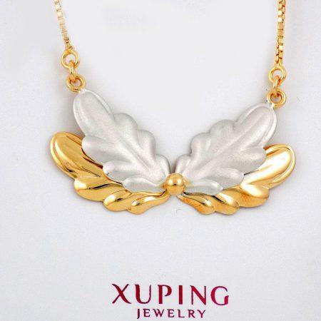گردنبند دخترانه ژوپینگ با طرح آنجل و روکش آب طلای 18 عیار nw-n130 از نمای نزدیک