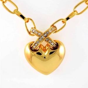 گردنبند زنانه جواهری کلیو با طرح قلب و نگین های سواروسکی اصل nw-n152 ازنمای روبرو