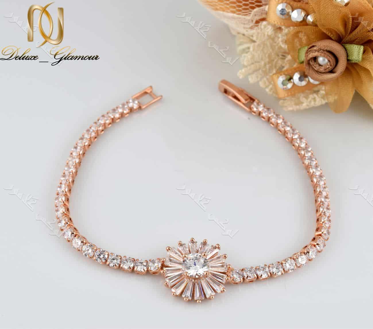 دستبند دخترانه طرح قاصدک کلیو با کریستالهای سواروسکی - عکس اصلی