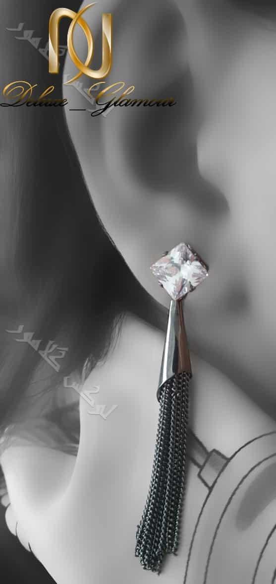 گوشواره آویزی دخترانه کلیو طرح مخروطی Er-n131