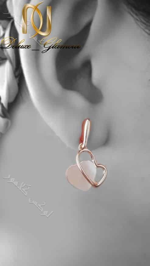 نیم ست طرح قلب رزگلد کلیو با سنگ اوپال سواروفسکی Ns-n163