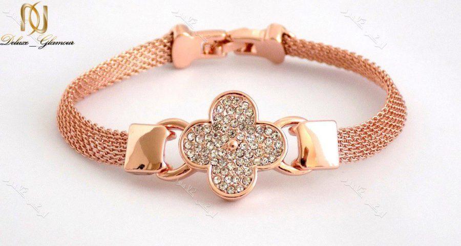 ست دستبند،گردنبند و انگشتر رزگلد کلیو با کریستالهای سواروفسکی BNR-n100