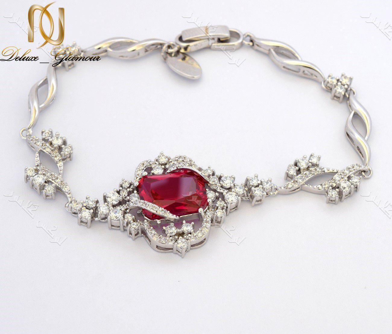 ست دستبند و گوشواره کلاسیک کلیو با کریستالهای سواروفسکی Be-n100