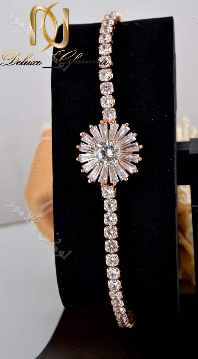دستبند دخترانه طرح قاصدک کلیو با کریستالهای سواروسکی - زمینه مشکی