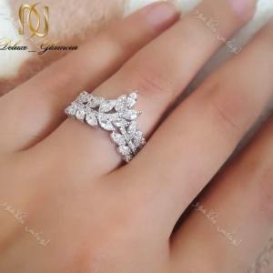انگشتر جواهری طرح خوشه کلیو با کریستالهای سواروفسکی Rg-n166 انگشتر روی دست