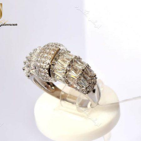 انگشتر جواهری زنانه کلیو با کریستالهای سواروفسکی اصل Rg-n163