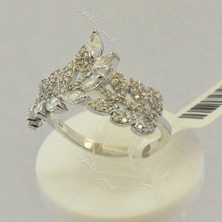 انگشتر جواهری طرح خوشه کلیو با کریستالهای سواروفسکی Rg-n166 عکس اصلی