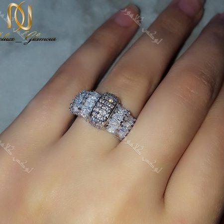 انگشتر جواهری زنانه کلیو با کریستالهای سواروفسکی اصل Rg-n163 عکس یا فلاش