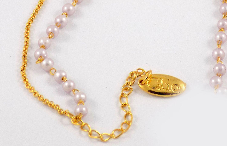 دستبند دخترانه کلیو با نگین های رنگی سواروسکی اصل ds-n202 از نمای پایین