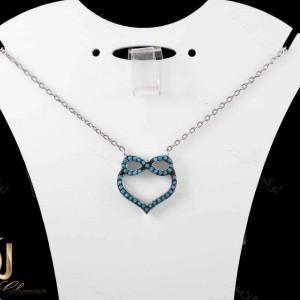 گردنبند دخترانه نقره با طرح قلب و بی نهایت NW-N171 از نمای استند