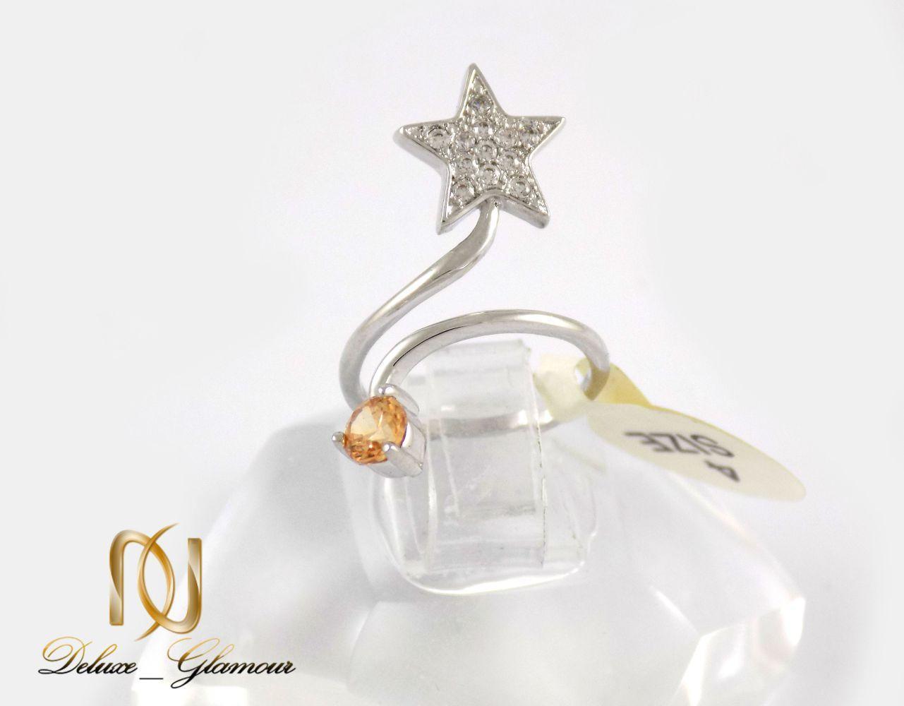 انگشتر بندانگشتی جواهری کلیو با نگین های سواروسکی rg-n171 از نمای روبرو