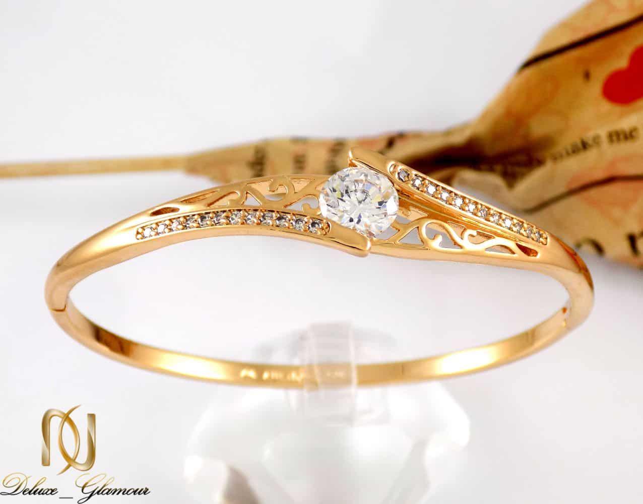 دستبند دخترانه ژوپینگ با قطر 60 میلی و نگین های زیرکونیا ds-n162