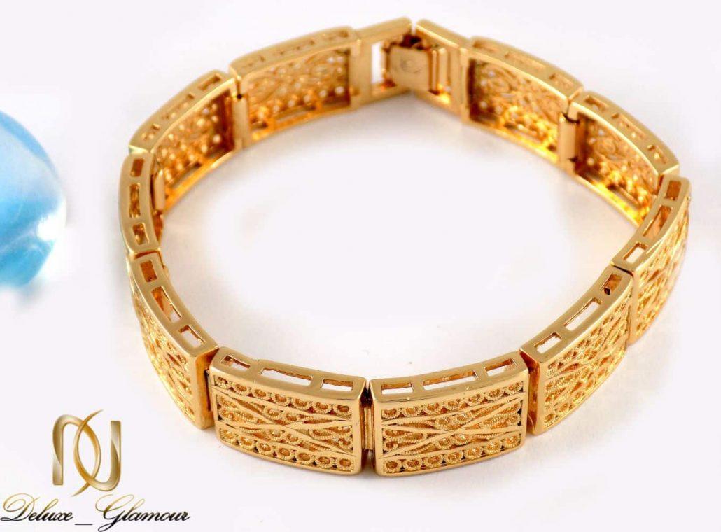 دستبند زنانه طرح طلای ژوپینگ با قفل جعبه ای ds-n20 از نمای پایین