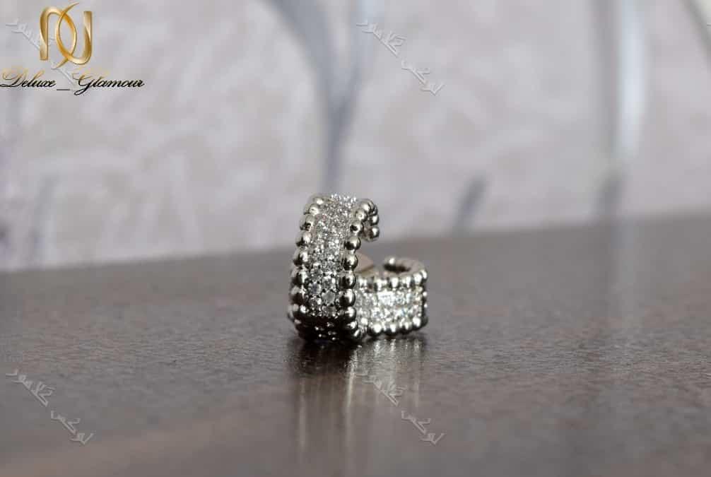گوشواره حلقه ای دخترانه کلیو با کریستالهای سواروفسکی اصل Er-n135