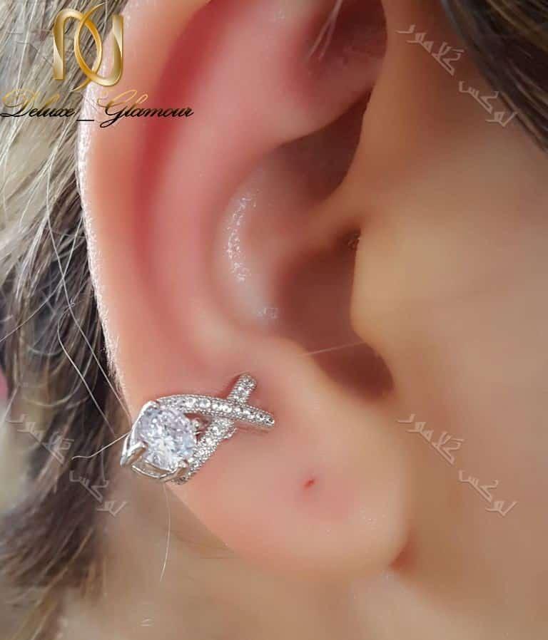 گوشواره کلیپسی جواهری کلو با کریستالهای سواروفسکی Er-n141