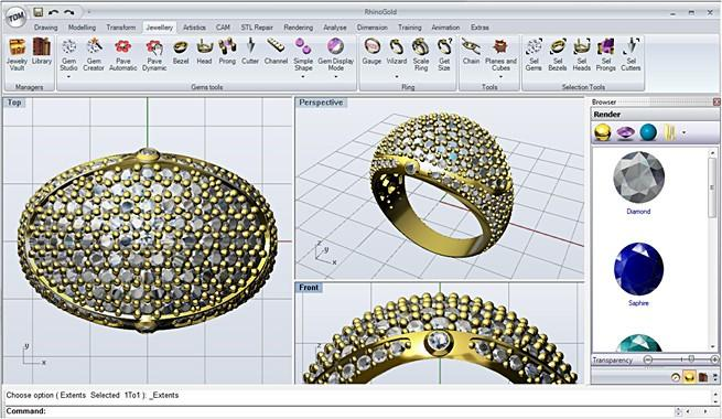 معرفی نرم افزار طراحی زیورآلات- طلا و جواهر
