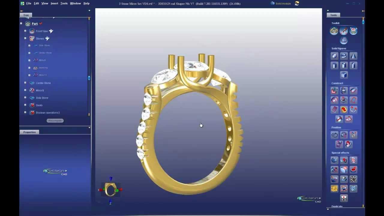 معرفی نرم افزار های طراحی زیورآلات و جواهرات - طراحی زیورآلات