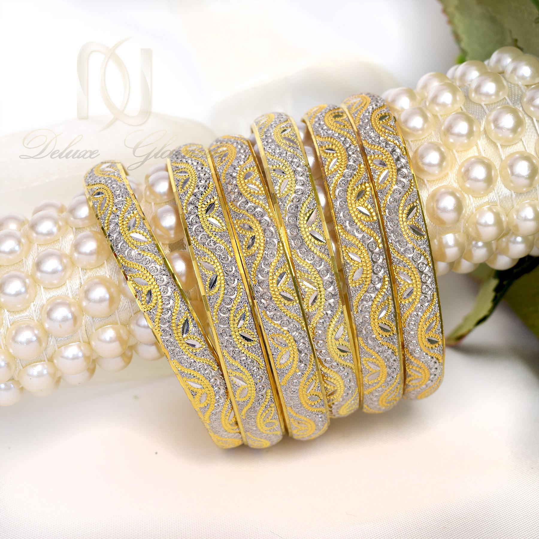 النگو نقره زنانه تراش با طرح نگین و روکش آب طلا AL-N102