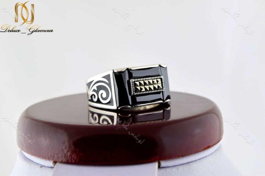 خرید انگشتر مردانه نقره استرلینگ و مارکازیت سواروسکی rg-n197 - عکس اصلی