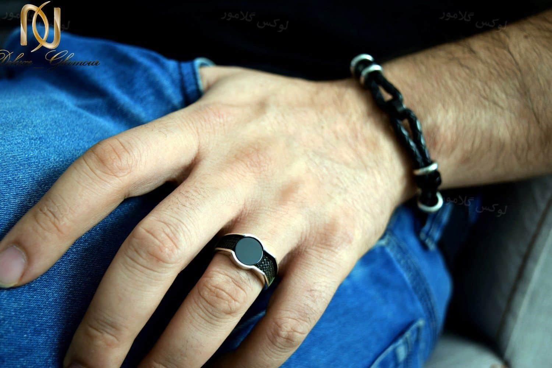 انگشتر مردانه نقره لوکس عیار 925 با نگین های مارکازیت سواروسکی rg-n190