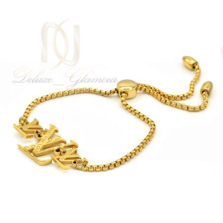 دستبند دخترانه مارشالی طرح LOUIS VUITTON استیل ds-n213 از نمای سفید