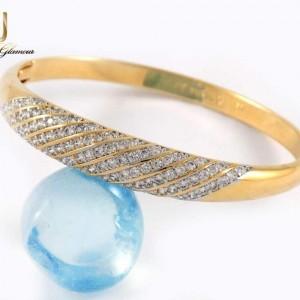 دستبند دخترانه ژوپینگ با قطر 57 میلی متری و نگین های زیرکونیا ds-n209 از نمای روبرو