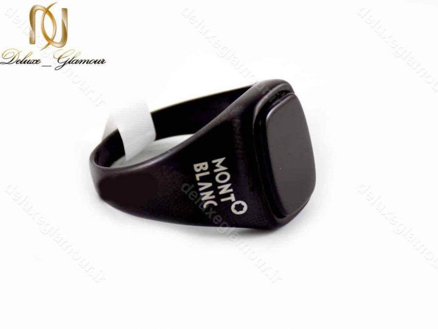 ست دستبند و انگشتر مردانه مونت بلانک مشکی اسپرت gl-s107