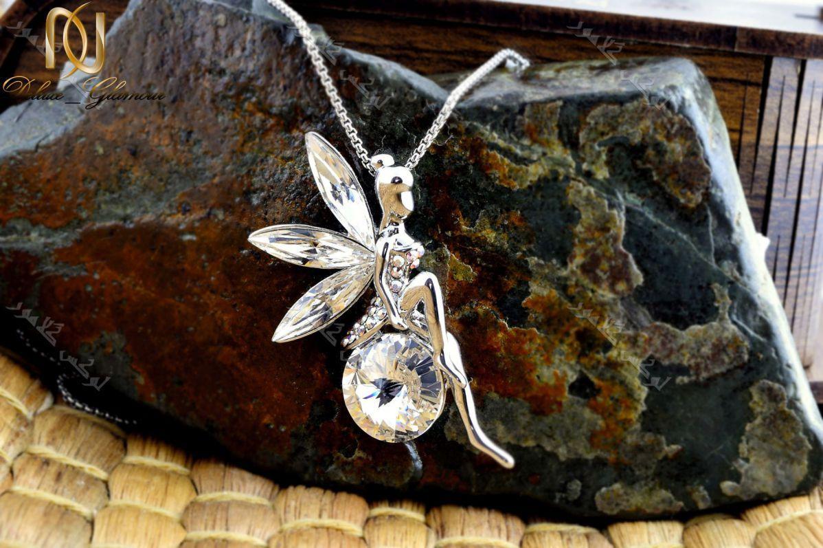 گردنبند دخترانه طرح فرشته با کریستالهای سواروسکی اصل Nw-n204لوکس گلامور (1)