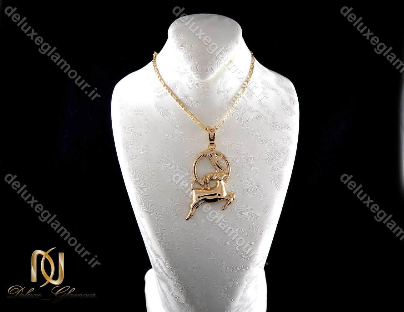 گردنبند دخترانه ژوپینگ ماه تولد دی ماه با نماد بز nw-n197 از نمای روبرو