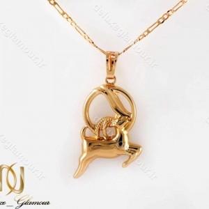 خرید گردنبند ماه تولد دی ماه -گردنبند دخترانه ژوپینگ ماه تولد دی ماه با نماد بز nw-n197 از نمای روبرو