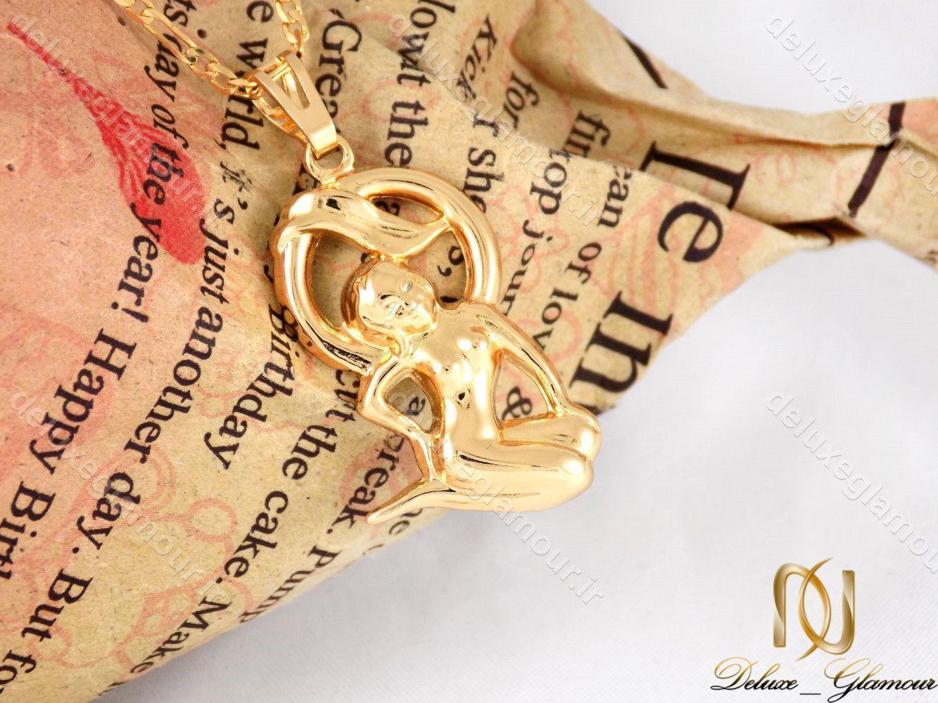 گردنبند دخترانه ژویپنگ ماه تولد شهریور با نماد فرشته nw-n198
