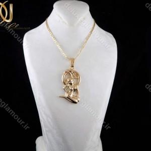 خرید گردنبند ماه تولد شهریور ماه - گردنبند دخترانه ژویپنگ ماه تولد شهریور با نماد فرشته nw-n198