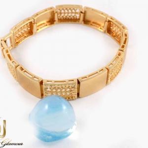 دستبند زنانه طلایی طرح بند ساعتی ژوپینگ - عکس کلی