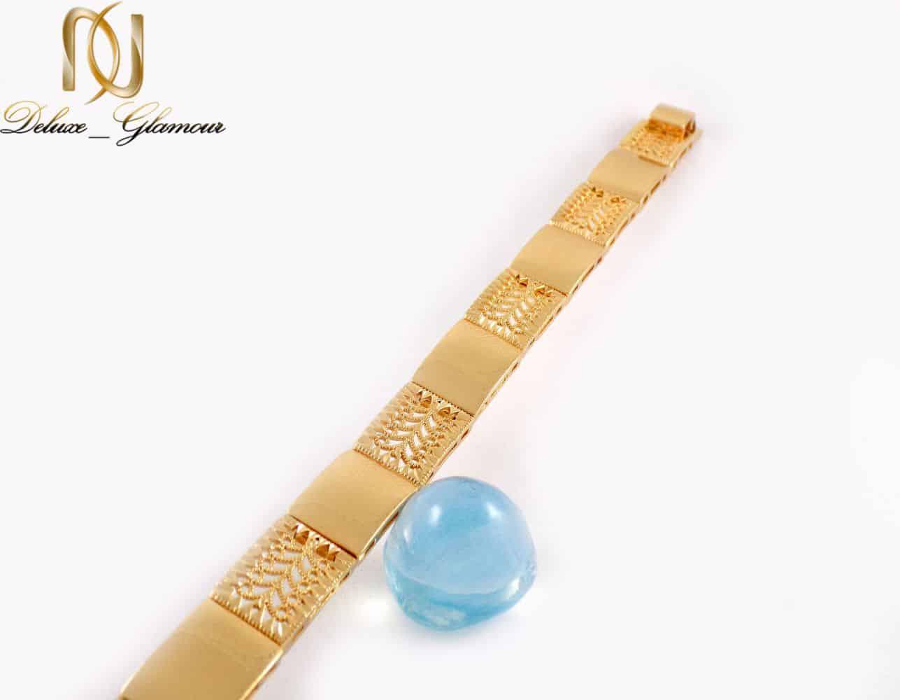 دستبند زنانه طلایی طرح بند ساعتی ژوپینگ Ds-n210