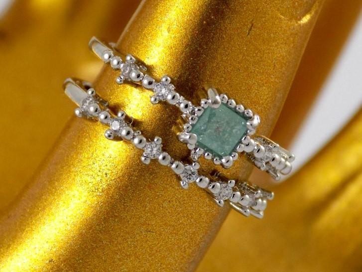 انگشتر بند انگشتی کلیو با نگین اوپال آبی سواروفسکی اصل Rg-n179