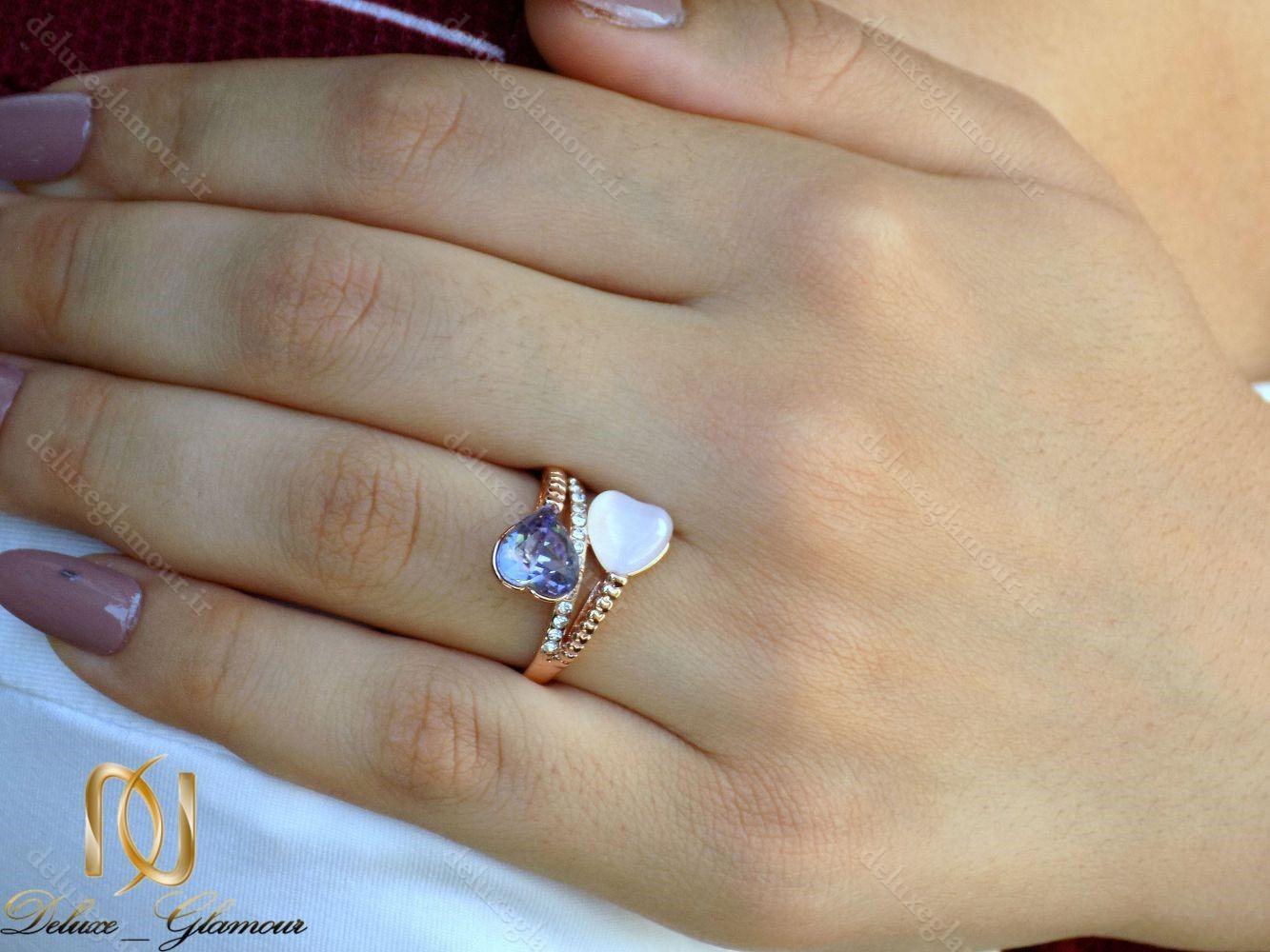 انگشتر دخترانه جواهری رزگلد با نگین سواروسکی و اپال RG-N227