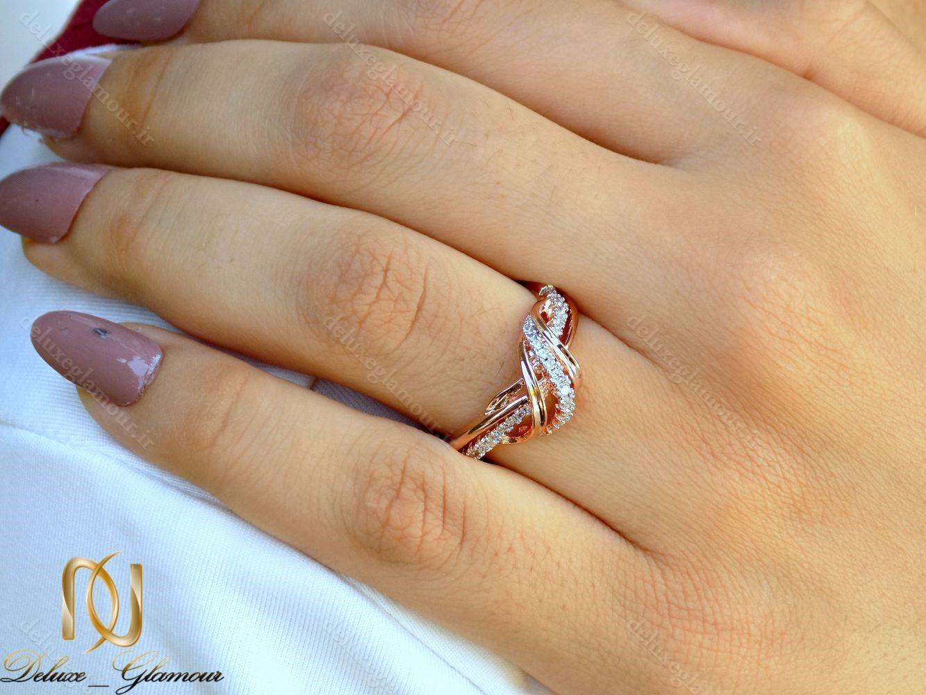 انگشتر دخترانه جواهری رزگلد کلیو با نگین های سواروسکی اصل rg-n229