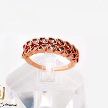 انگشتر دخترانه جواهری طرح خوشه کلیو با نگین سواروسکی rg-n230