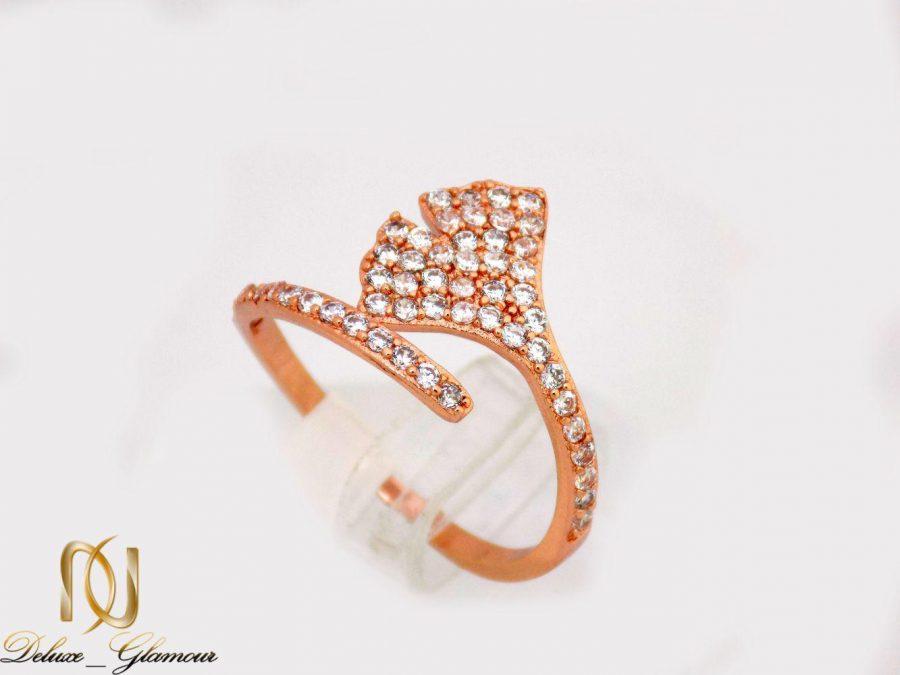 انگشتر دخترانه جواهری طرح صدفی با نگین های سواروسکی rg-n234