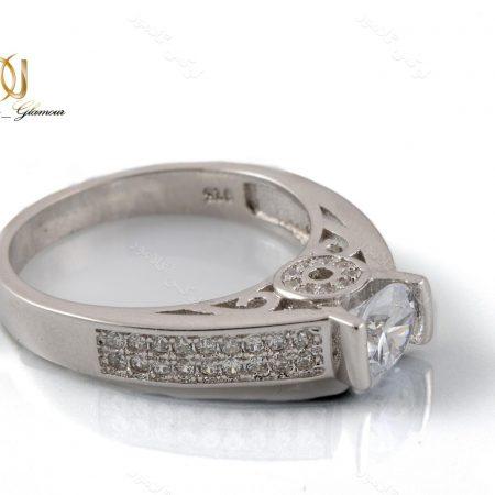 انگشتر نقره زنانه لوکس با تاج سه بعدی Rg-n234- عکس اصلی
