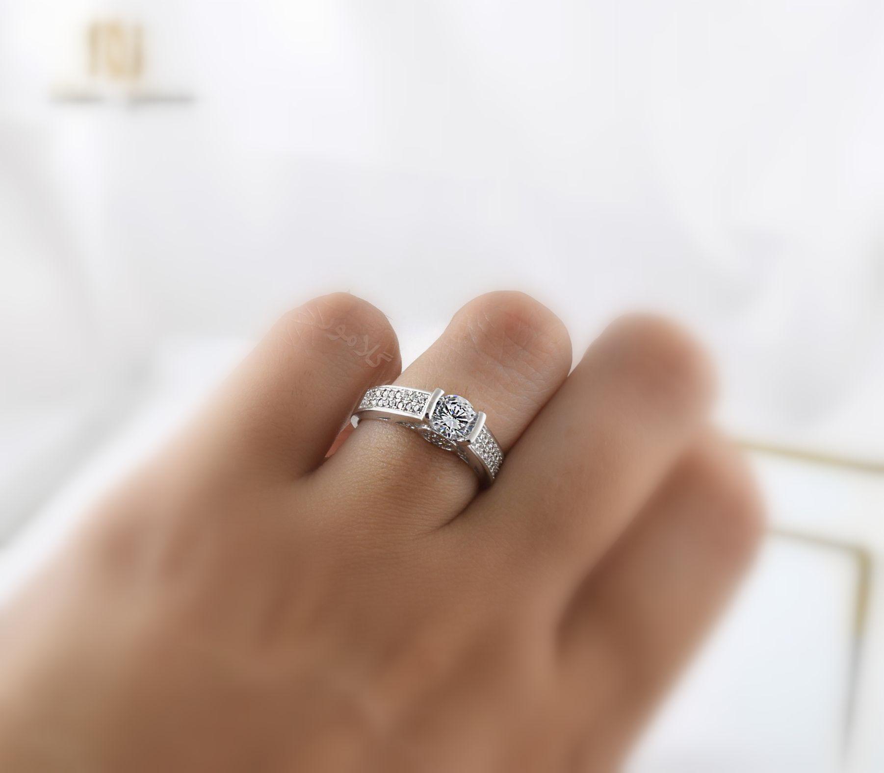 انگشتر نقره زنانه لوکس با تاج سه بعدی Rg-n234 (2)