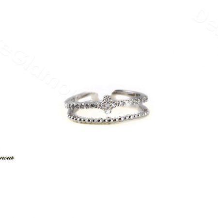 بند انگشتی کلیو طرح گل با کریستال سواروسکی Rg-n242 - عکس اصلی