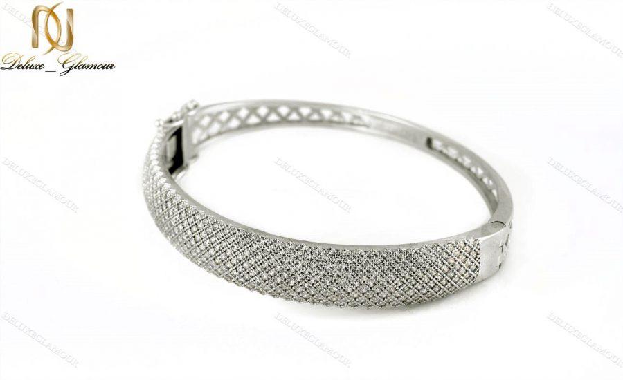دستبند النگویی جواهری نقره Ds-n221 - عکس اصلی