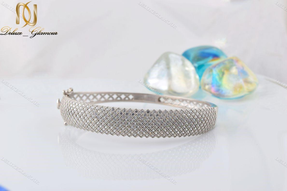 دستبند النگویی جواهری نقره Ds-n221 (4)