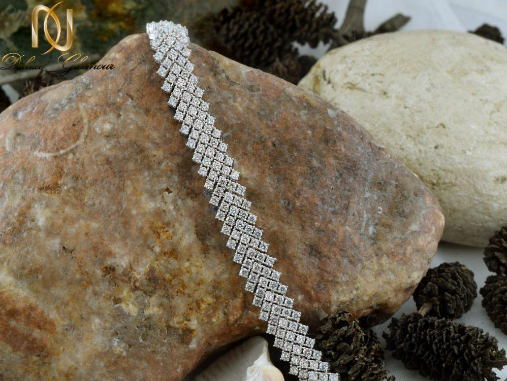 دستبند بند ساعتی نقره زنانه جواهر DS-N220 - روی سنگ