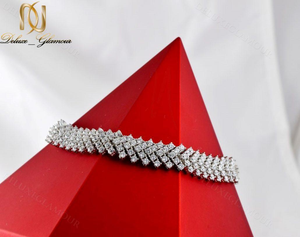 دستبند بند ساعتی نقره زنانه جواهر DS-N220 - روی استند
