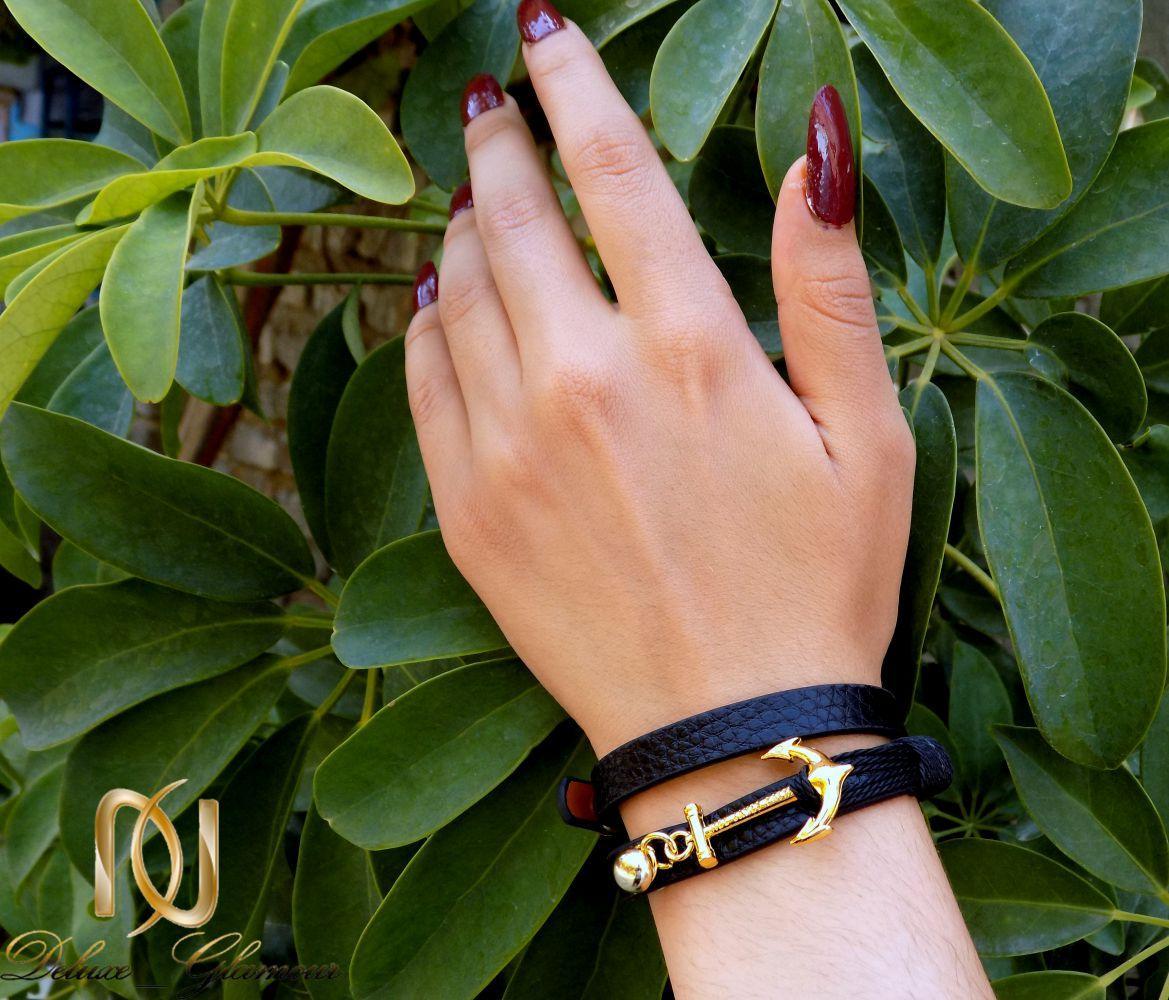 دستبند چرمی دخترانه اسپرت Kiel James Patrick  مشکی ds-n228