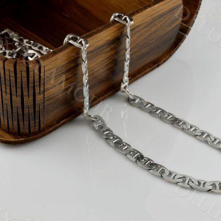 زنجیر مردانه نقره طرح رامبو Nw-n237 - عکس اصلی