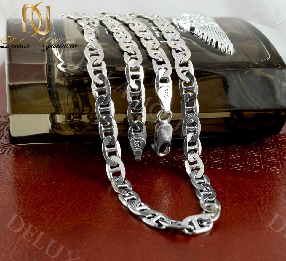 خرید زنجیر مردانه نقره طرح رامبو Nw-n237 - زمینه رنگی