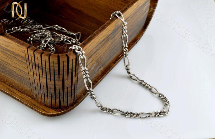 زنجیر مردانه نقره طرح فیگارو Nw-n238 - عکس اصلی